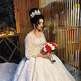 Vanessa - Розкішна корона півколом з неймовірним сяйвом (9 см) (висока діадема), фото 6