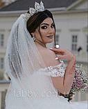 Vanessa - Розкішна корона півколом з неймовірним сяйвом (9 см) (висока діадема), фото 9