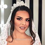 Vanessa - Розкішна корона півколом з неймовірним сяйвом (9 см) (висока діадема), фото 7