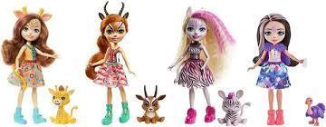 Ігровий набір Энчантималс Друзі в Сонячній савані 4 ляльки GYN57 Enchantimals savanna