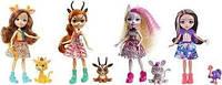 Ігровий набір Энчантималс Друзі в Сонячній савані 4 ляльки GYN57 Enchantimals savanna, фото 1