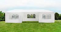 Павильон садовый шатер беседка Malatec 3х9 метра белый