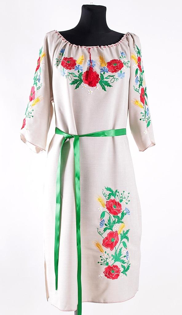"""Красочное женское платье с вышивкой - Интернет-магазин одежды """"Дива-Александра"""" в Хмельницком"""