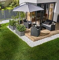 Зонт садовый от солнца и дождя пляжный  Blooma Malta 3 м серый с уклоном + чехол