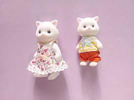 Ігровий набір Білі котики 2 фігурки мама кішка і кошеня