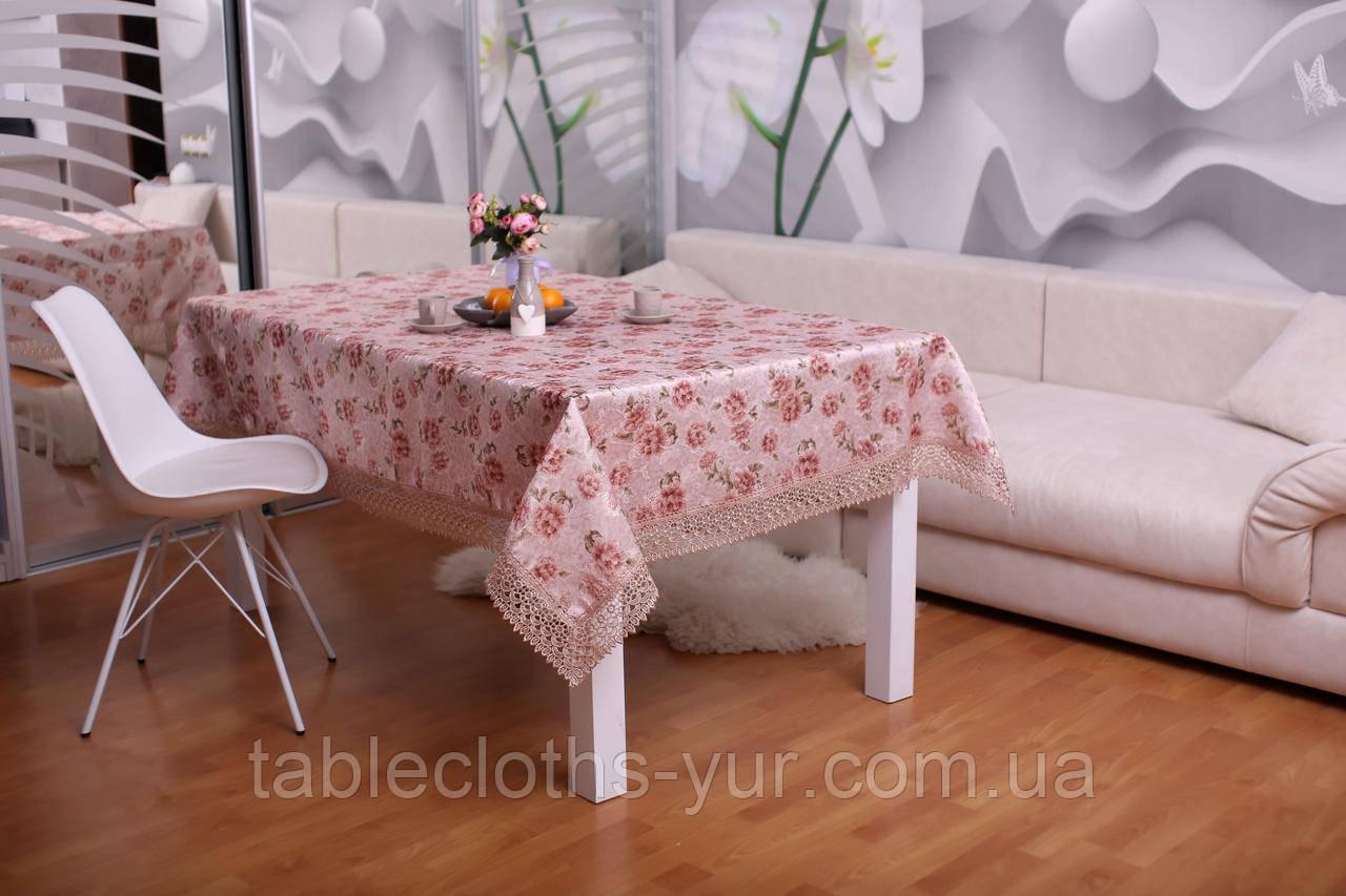 Скатерть Праздничная с Кружевом 110-150 3D «Beautiful» Прямоугольная №2