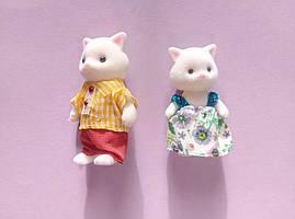 Ігровий набір Білі котики 2 фігурки тато кіт і кошеня