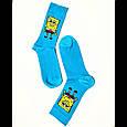 Шкарпетки високі з принтом Спанч Боб розмір 37-43, фото 2