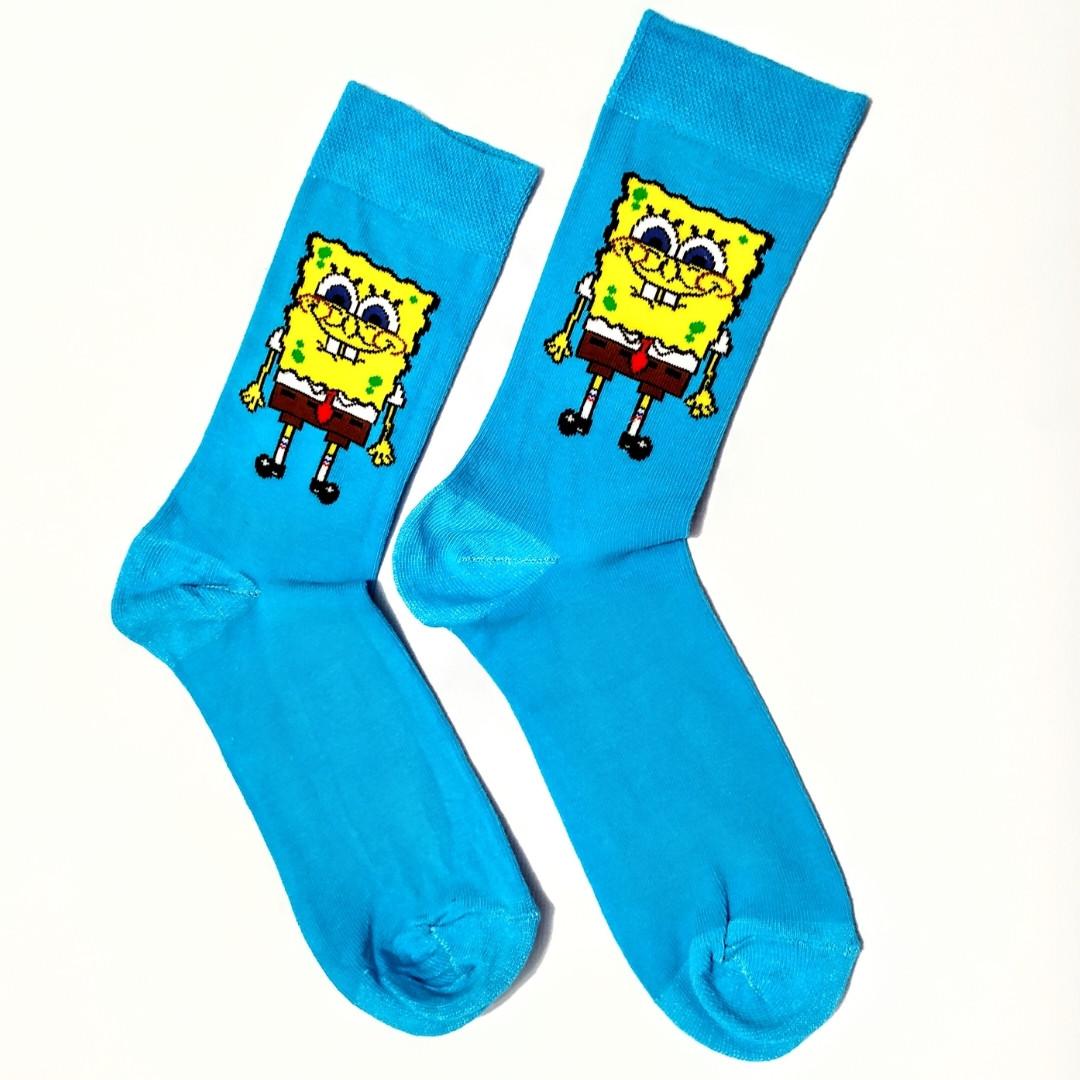 Шкарпетки високі з принтом Спанч Боб розмір 37-43