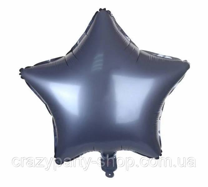 Фольгирований куля синя Зірка сатин 18 дюймів