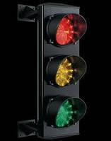 Светофор светодиодный трехцветный 200.