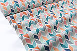 Лоскут тканини Duck 50*45 см з бірюзово-рожевим колоском, фото 2