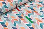 Лоскут тканини Duck 50*45 см з бірюзово-рожевим колоском, фото 3