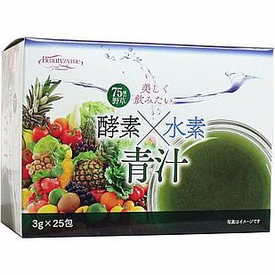 HIKARI Aojiru сік молодих паростків ячменю + 82 ферментів рослин + кораловий кальцій 25 шт по 3 г