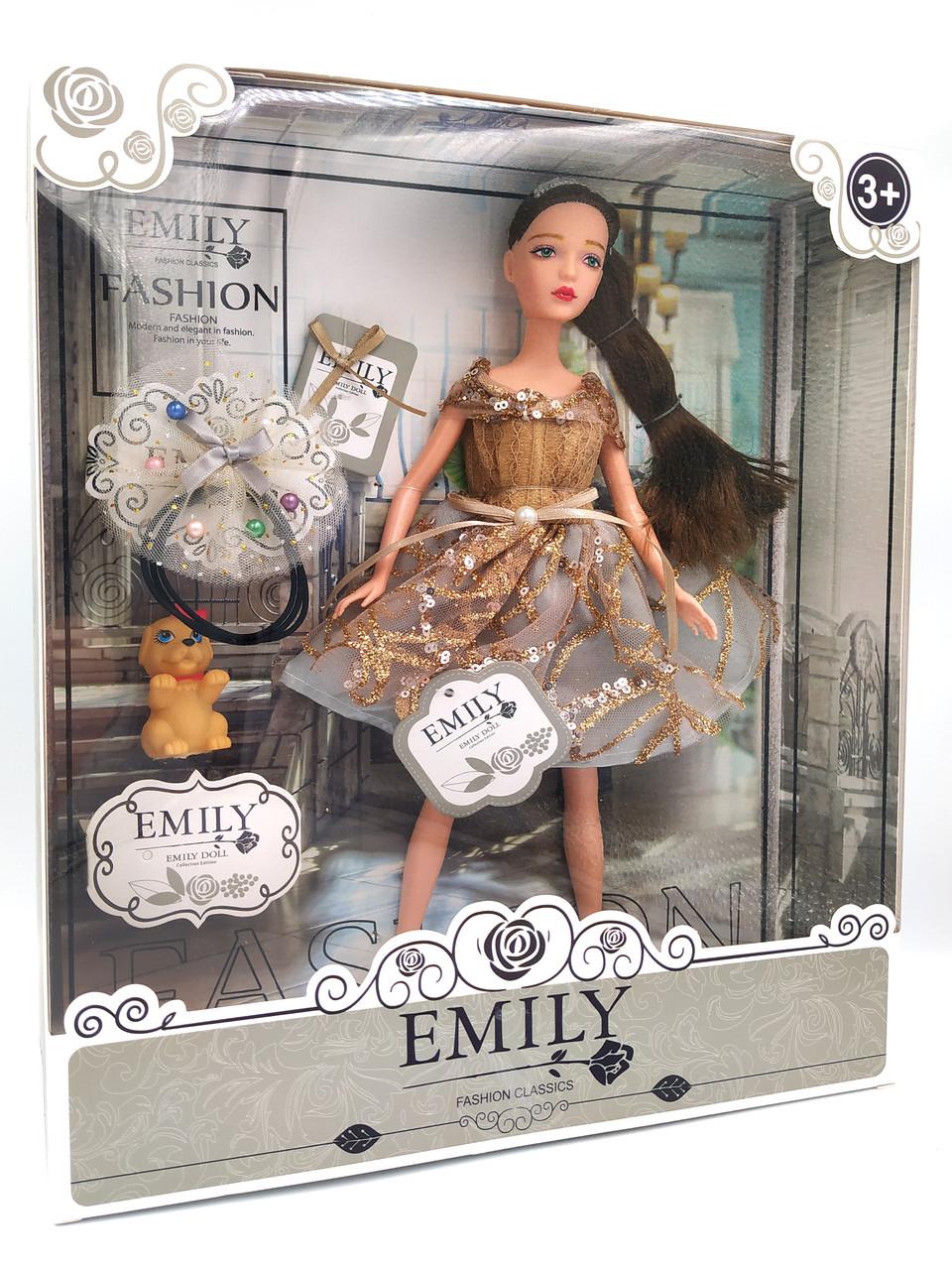 Кукла Эмили Emily Fashion Classics брюнетка в платье с высокой детализацией 30см вид 15
