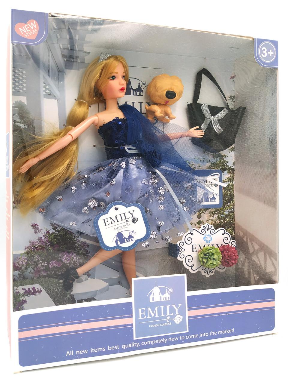Кукла Эмили Emily Fashion Classics блондинка в платье с высокой детализацией 30см вид 18