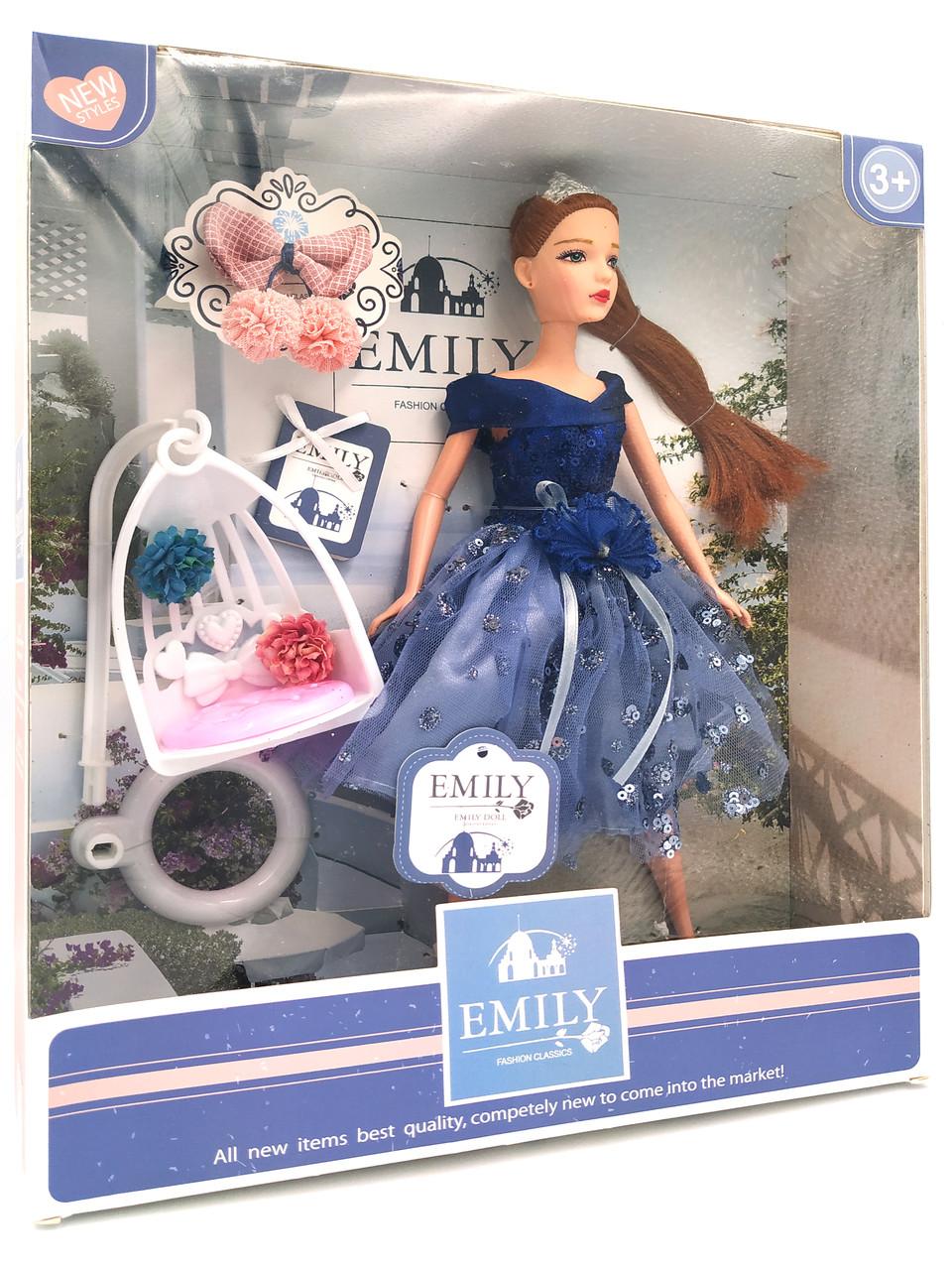 Кукла Эмили Emily Fashion Classics брюнетка в пышном платье с высокой детализацией 30см вид 10
