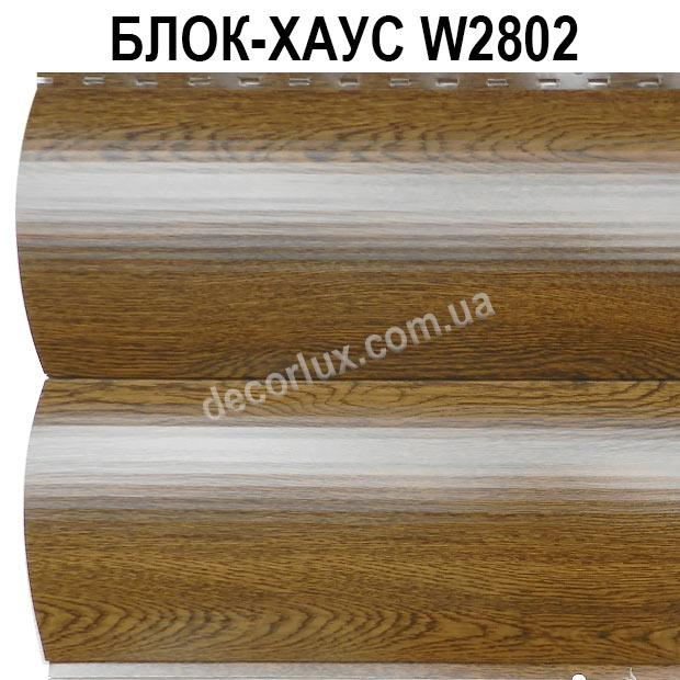 Сайдинг, блок-хаус металевий Світлий дуб під дерево (шир. 0,35 м)