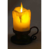 Декоративная led свеча с движущимся пламенем, фото 2