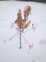 Флюгер петух с Розой ветров