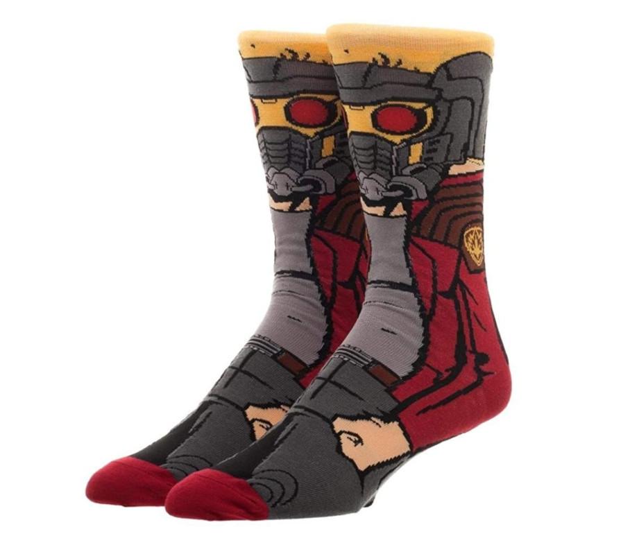Высокие мужские носки с принтом Звёздного Лорда из Страж Галактики