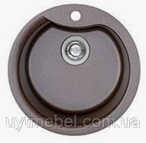 Мийка Turas 480+сифон граніт мокко мат (Platinum)