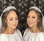 Обруч з перлинами та кристалами гнучкий, можна використовувати для зачісок, фото 2