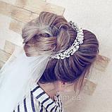 Обруч з перлинами та кристалами гнучкий, можна використовувати для зачісок, фото 8