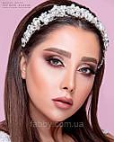 Обруч з перлинами та кристалами гнучкий, можна використовувати для зачісок, фото 10