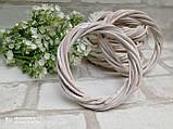 Вінок білий натуральний з лози d-12см, 25 грн, фото 2
