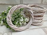 Вінок білий натуральний з лози d-12см, 25 грн, фото 4