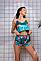 Жіноча літнє велюрова піжама з шортами р. 42 - 50, фото 2