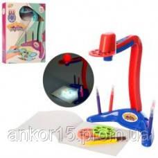Проектор для рисования YM815-YM816 слайды, фломастеры 6 шт, свет, 2 цвета