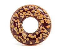 Intex надувний круг 56262 «Шоколадний пончик», 114 см, фото 1