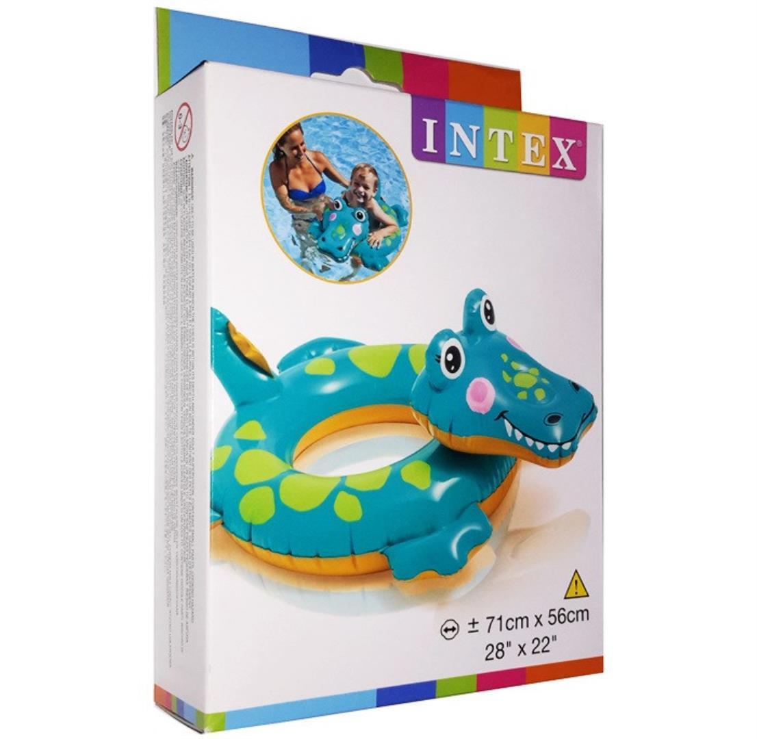 """Дитячий надувний круг Intex 58221 """"Крокодил"""""""