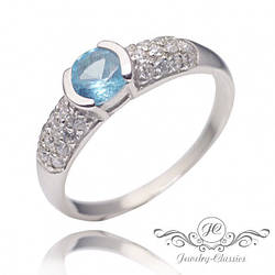 Кольцо серебряное с Фианитами Арт. P1320