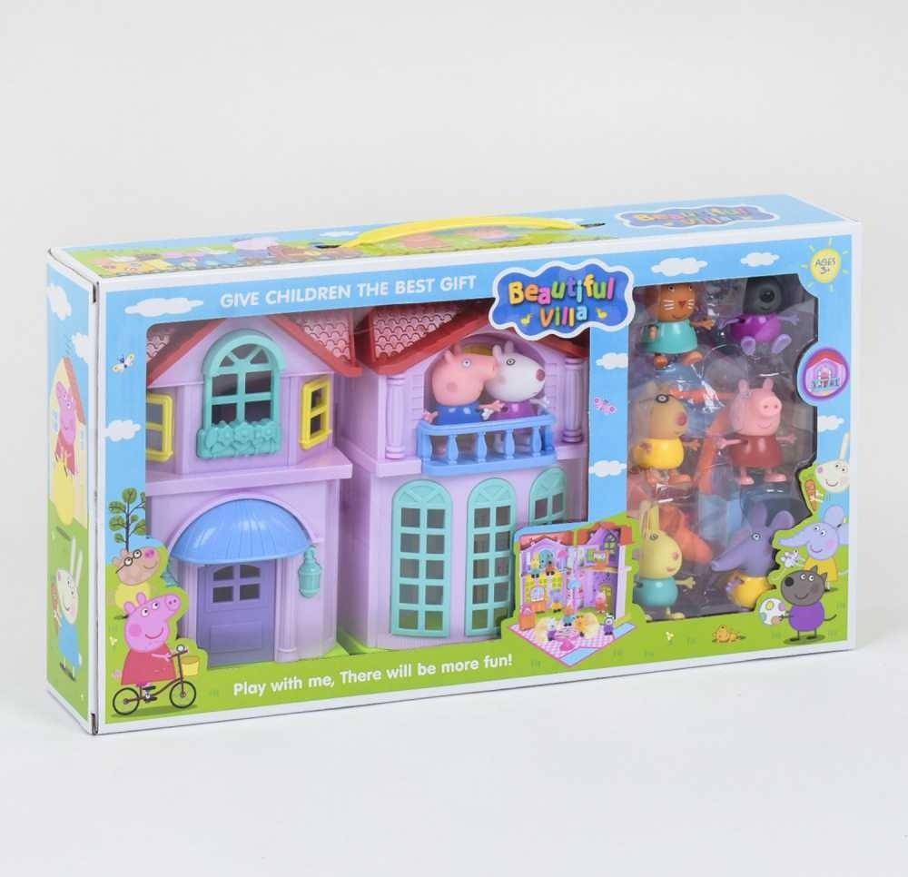 """Ляльковий будиночок """"Будинок Свинки Пеппы"""" з фігурками персонажів (РР 612 А)"""