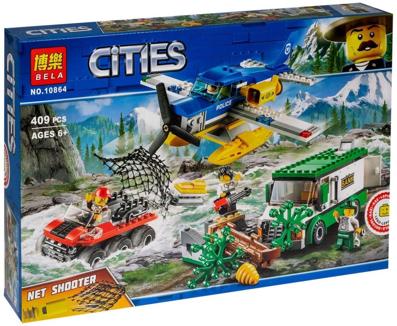 """Конструктор Bela Cities 10864 """"Ограбление у горной реки"""" 409 дет"""