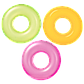 "Intex надувний круг ""Neon Frost Tubes"" 59262 (91 см) Помаранчевий, фото 3"