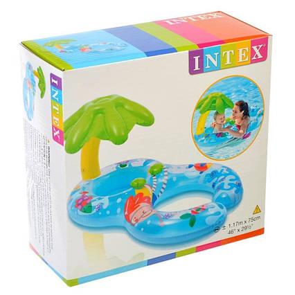 """Детский надувной плотик с навесом """"Островок"""" Intex 56590"""