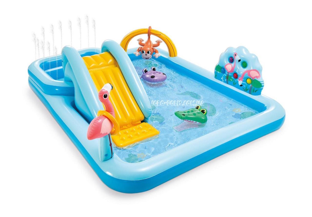 """Детский игровой бассейн с горкой Intex 57161 """"Приключения в джунглях"""""""