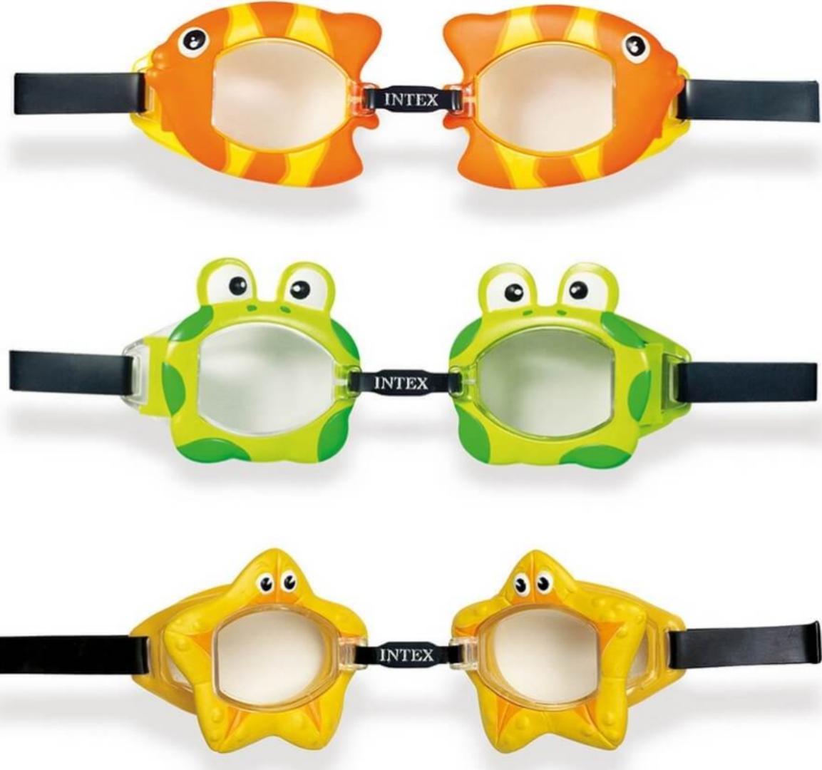 Детские очки для плавания Intex 55603, 3 вида