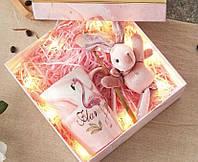 Набор чашка+игрушка+ложка. Идеальный подарок на 8 марта