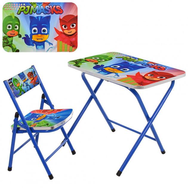 Детский складной металический столик со стульчиком (A19-PM)