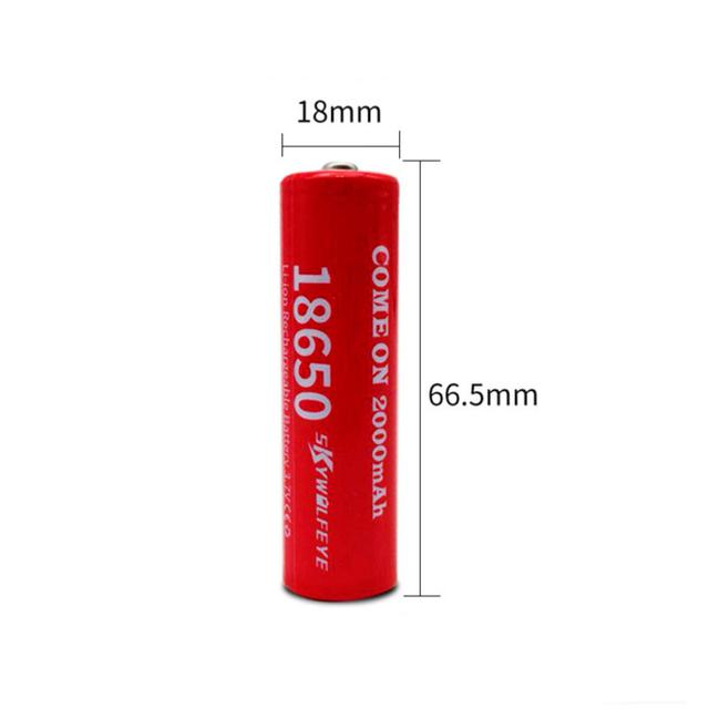 Размер Аккумулятор Li-ion 18650 1800