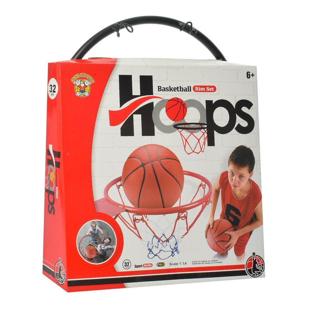 Настінне баскетбольне кільце з насосом і м'ячем (M 5966)