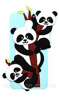 Чехол силиконовый Панда для iPhone 6/6S Mint(айфон 6/6с)
