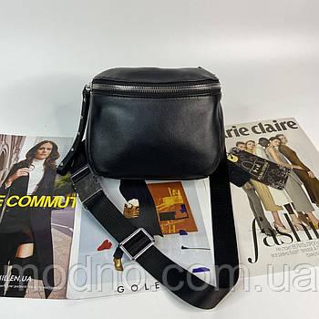 Женская кожаная сумка через плечо и на пояс Polina & Eiterou