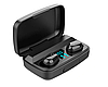 Навушники безпровідні TWS J16 з зарядним боксом, LCD і Power Bank Black, фото 2