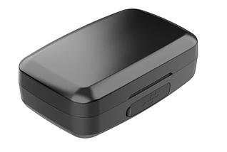 Навушники безпровідні TWS J16 з зарядним боксом, LCD і Power Bank Black, фото 3